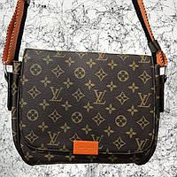Мужская сумкаLouis Vuitton District MM Monogram, Копия, фото 1