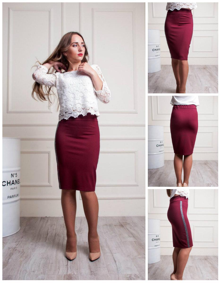 Женская стильная юбка карандаш. 48-52
