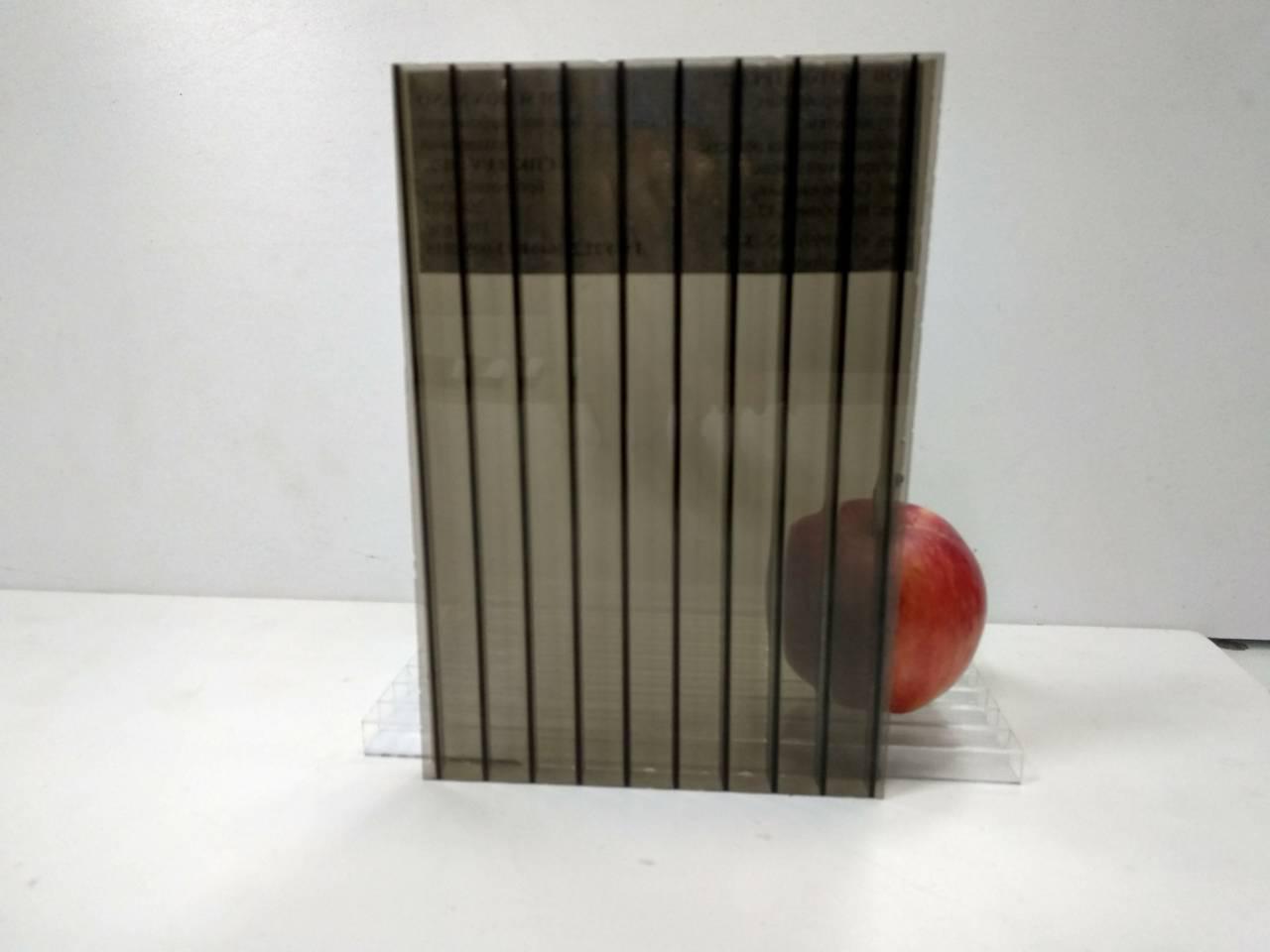 Сотовый поликарбонат 10 мм бронза, фото 1