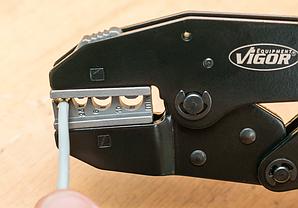 Набор обжимных щипцов для установки клемм, 6шт, VIGOR, V2499, фото 3