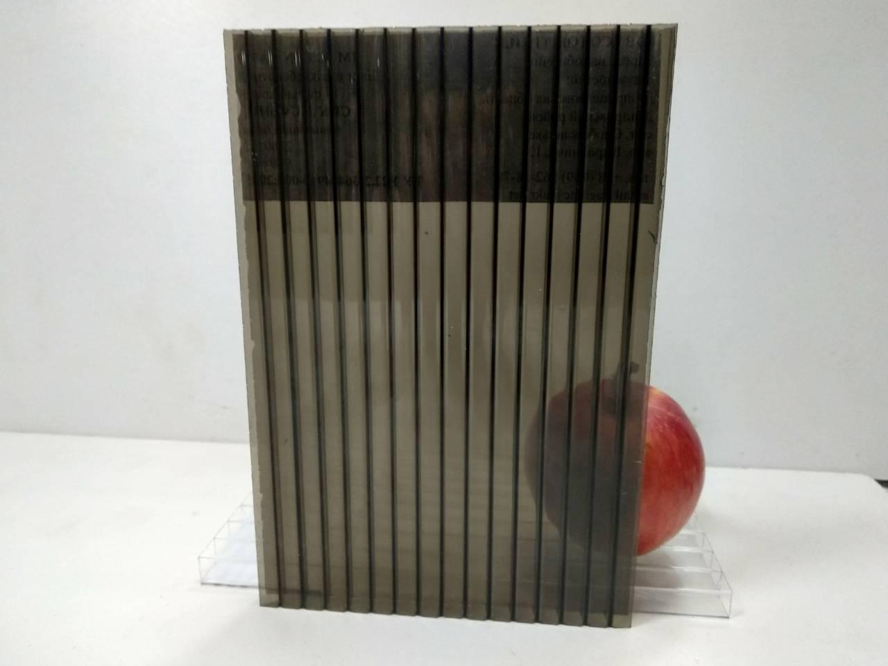 Сотовый поликарбонат 6 мм бронза, фото 1