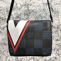 Мужская сумка Louis Vuitton District PM American's Cup Damier Graphite Red, Копия, фото 1
