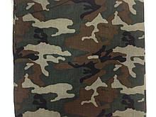 Хлопковая бандана - платок с рисунком камуфляж цвета хаки