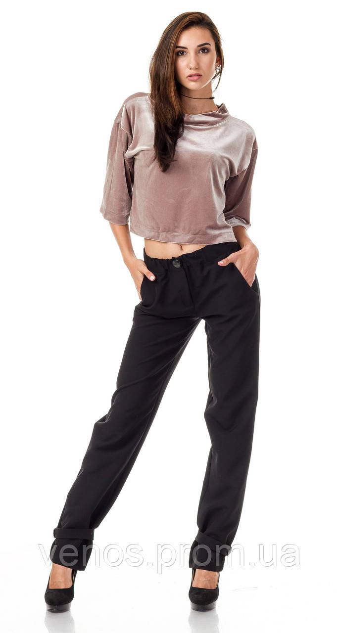 Женские модные брюки с хлястиком  БР028