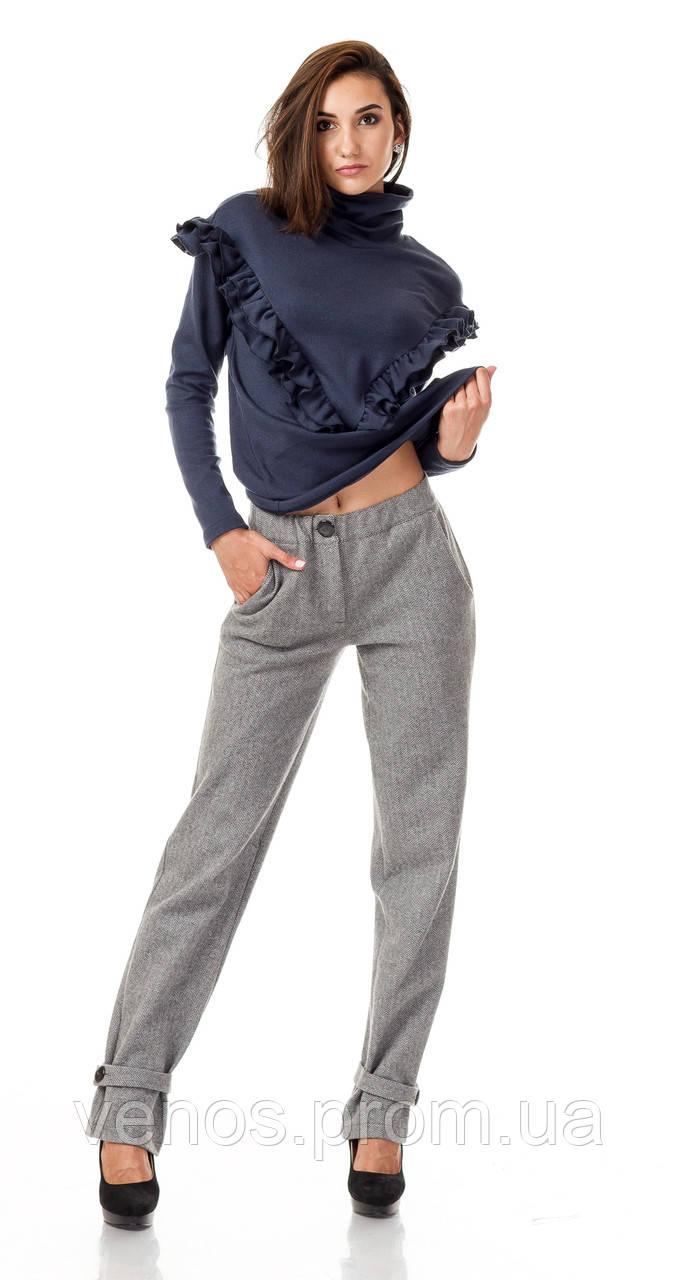 Женские утепленные брюки с хлястиком  БР028