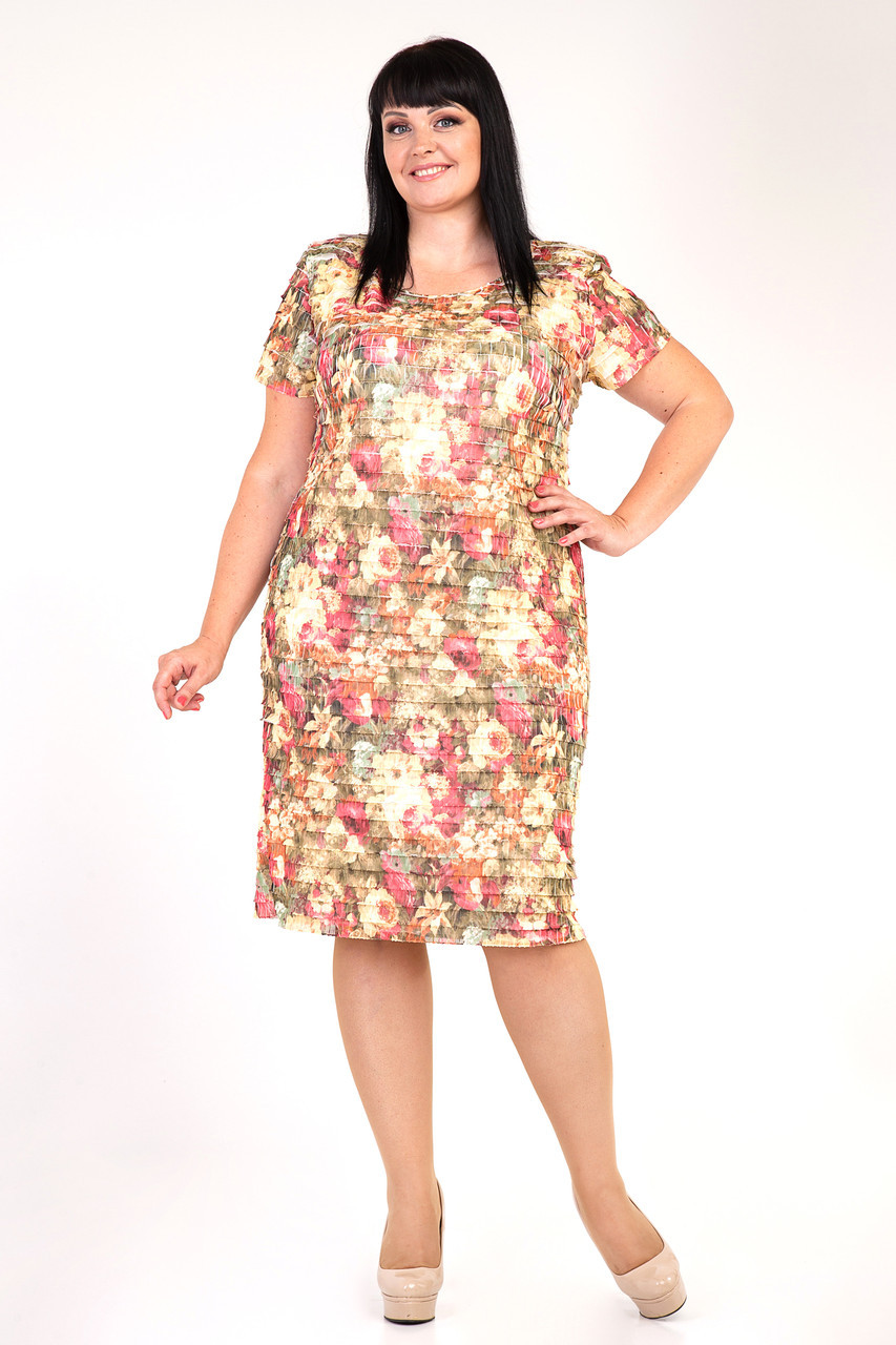 d0c9a6cfc353fc9 Купить Женственное платье большого размера Жизель оптом и в розницу ...