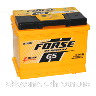 Автомобильные аккумуляторы FORSE 6CT-65A2 640A R