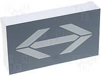 Индикатор светодиодный R54302-D2-UR3-8-W (AC18-11SRWA) стрелка /TOYO/