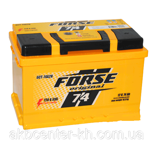 Автомобильные аккумуляторы FORSE 6CT-74A2 720A R (h=175)