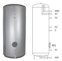 Буферная емкость с нержавеющей стали Meibes HPS 750