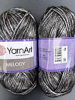 Yarnart Melody- 887 темно серый