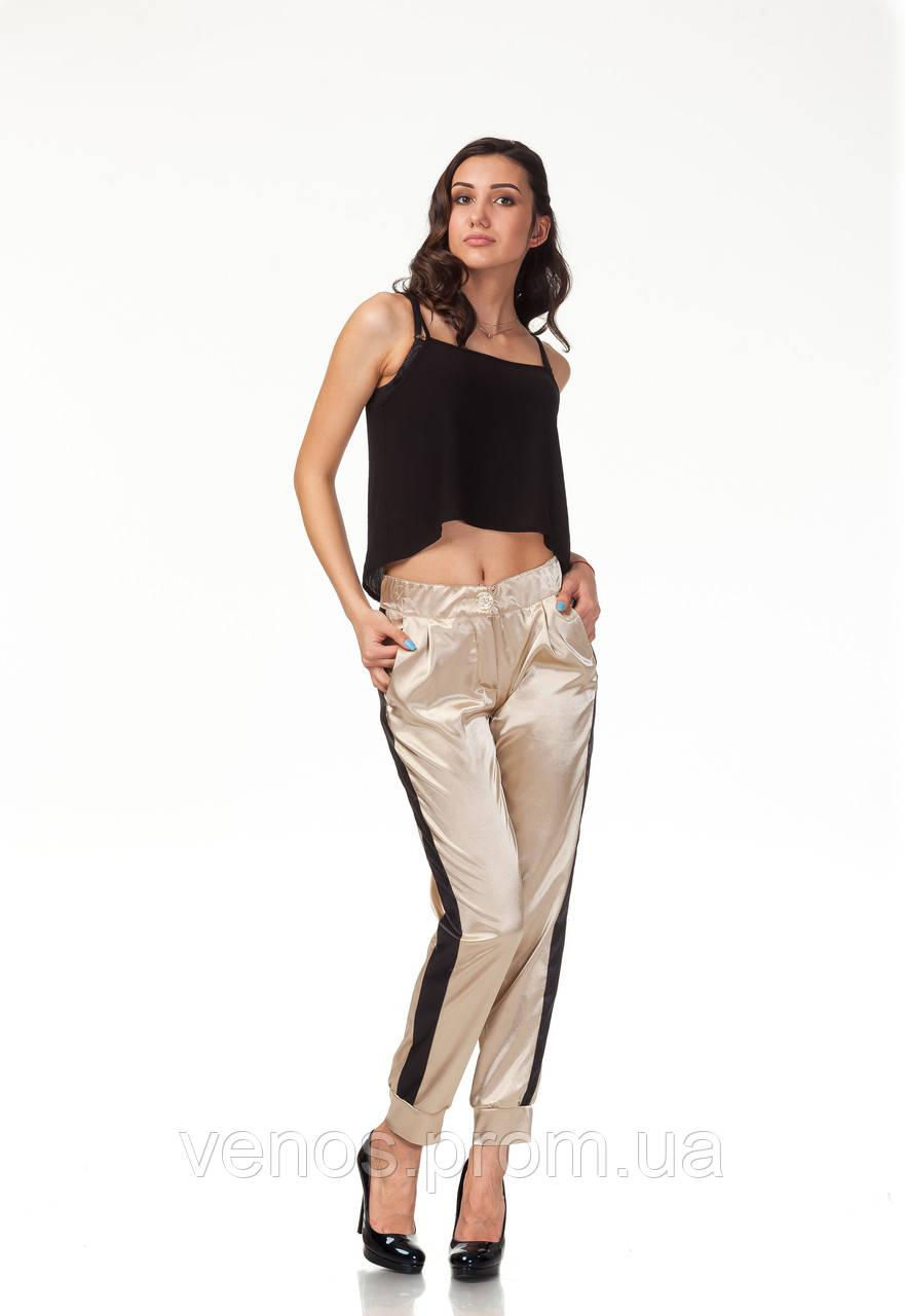Модные женские брюки на манжетах. БР029