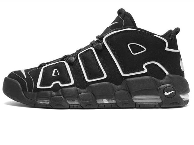 Мужские кроссовки Nike Air More Uptempo Varsity Black/White
