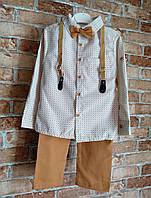 Комплект на мальчика: рубашка и брючки 4-5  лет