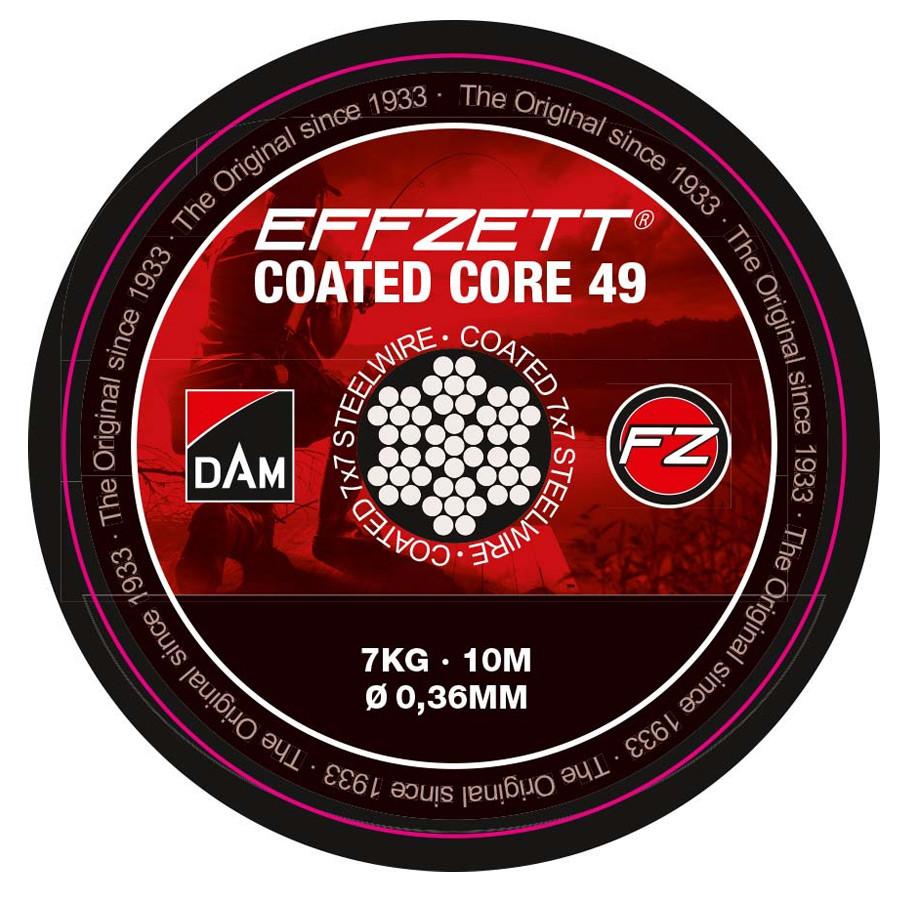 Поводочный стальной материал 7х7 DAM Effzet Coated Core 49 Steeltrace 10м  11кг (коричневый)