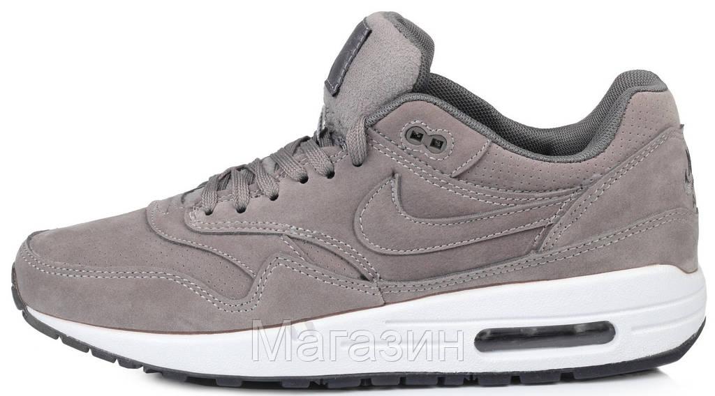Мужские кроссовки Nike Air Max 1 Essential Grey (в стиле Найк Аир Макс 1) серые