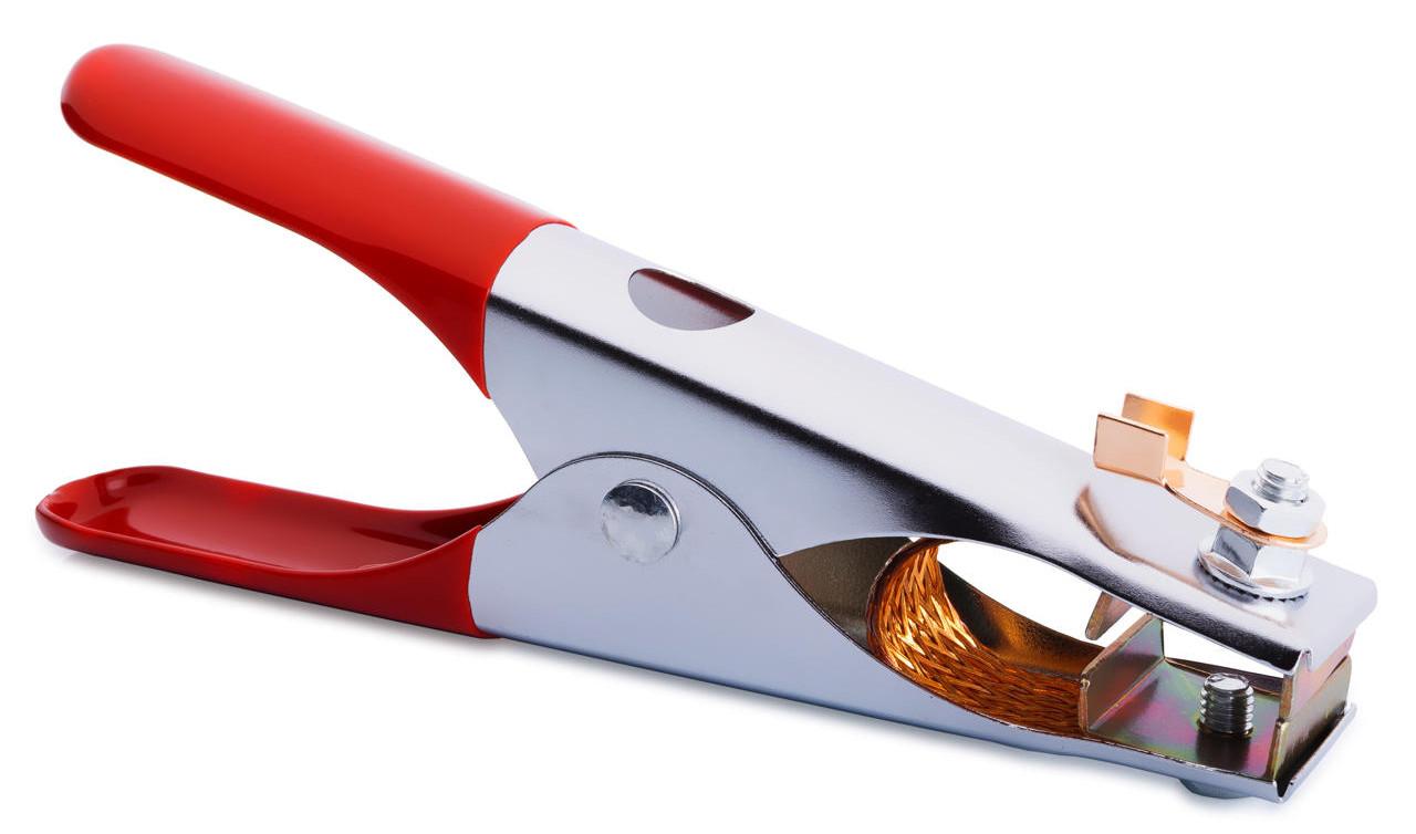 Клемма массы 300A красные ручки (малая)  длина 17 см