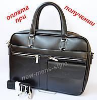 Мужская деловая кожаная фирменная сумка портфель Polo для документов A4, фото 1