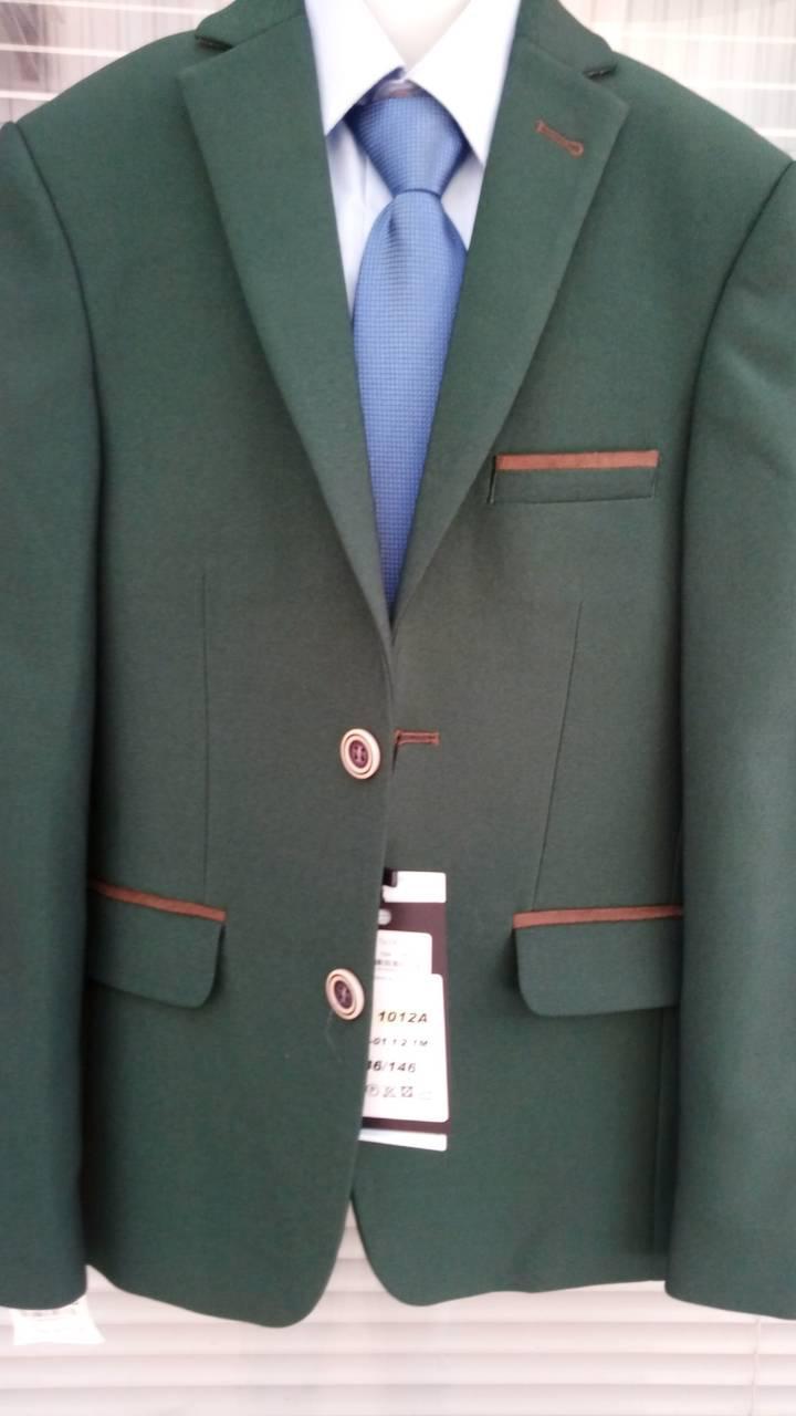 """Пиджак детский для мальчика  """"West-Fashion"""" модель А 1012А зеленый"""
