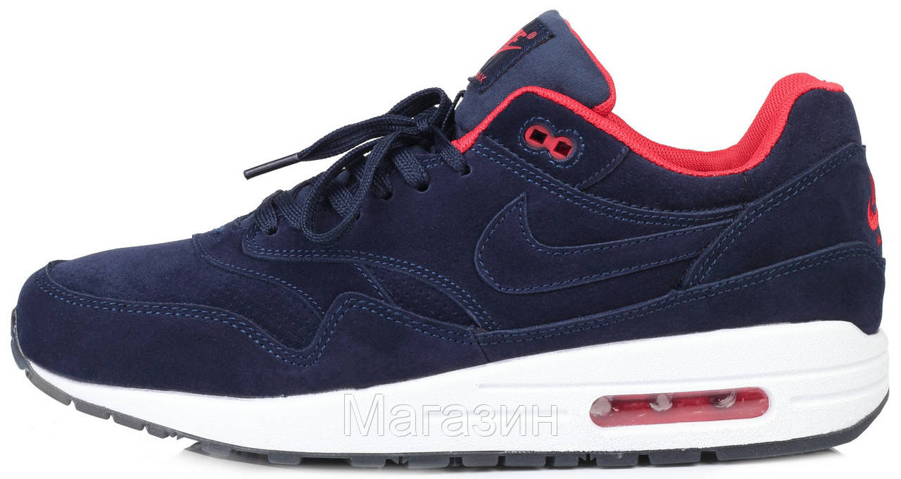 0f60537c Мужские кроссовки Nike Air Max 1 Essential Blue Найк Аир Макс 1 синие -  Магазин обуви