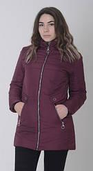 Жіноча демісезонна куртка колір бордо розмір 48 50 52 54 56