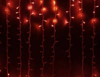Гирлянда Штора (Curtain) красная 2*1,5 м