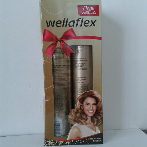 Набор лак+пена для волос Wellaflex 250 мл.+200 мл.  (Велла супер-сильная фиксация)