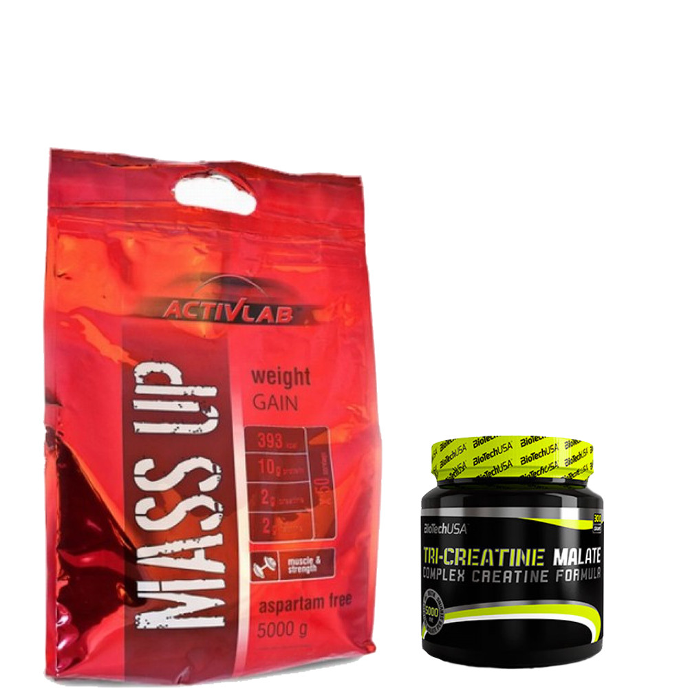 Гейнер ACTIVLAB MASS UP 5 кг + Tri-Creatine Malate BioTech 300 g