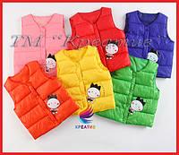 Болоньевые детские жилеты с логотипом оптом от 50 шт., фото 1