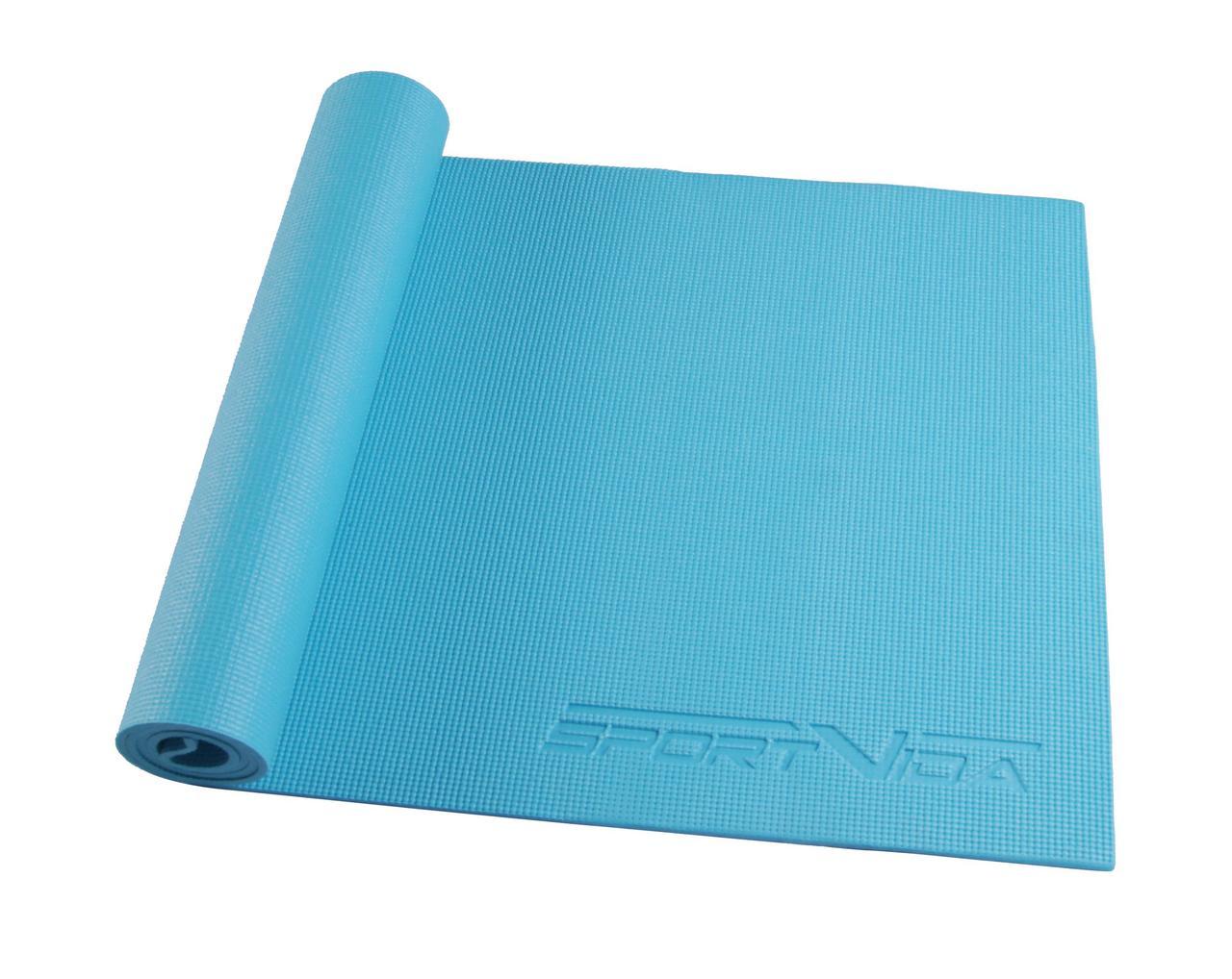 Коврик для тренировок SportVida PVC 6 мм Sky Blue