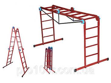 Лестница трансформер, шарнирная, 4х4, Технолог