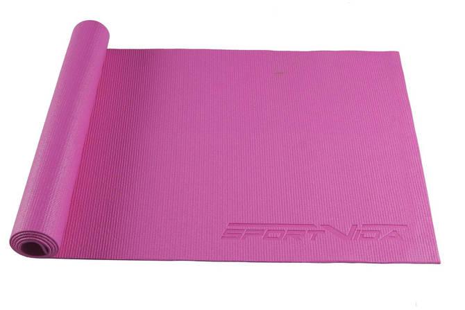 Коврик для тренировок SportVida PVC 4 мм Pink