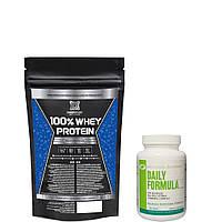 100% Whey protein PROFIPROT 1 кг + витамины DAILY FORMULA 100 таб шоколад