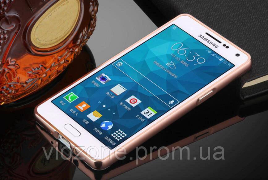 Зеркальный Чехол/Бампер для Samsung Galaxy A7 2016 / A710, Розовый (Металлический)