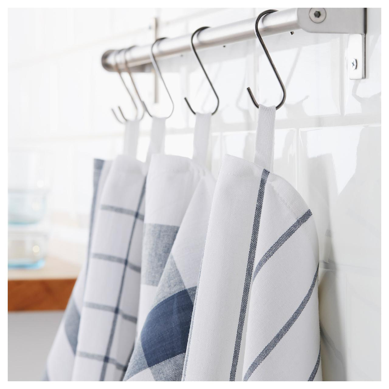 ✅ IKEA ELLY (700.696.37) Полотенце кухонное, белый, синий
