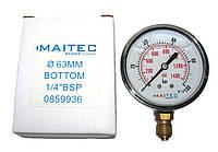 """Манометры радиальный глицериновый MAITEC (1/4"""") 0 - 100 НР"""