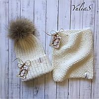 Зимняя шапка и Снуд. Ручная вязка., фото 1