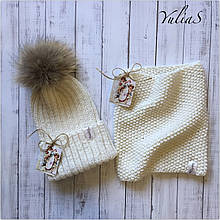 Зимняя шапка и Снуд. Ручная вязка.