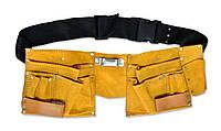 Пояс для инструмента кожаный, 10 отделений | 16-701