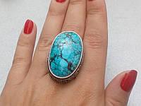 Бирюза кольцо с бирюзой 18 размер, натуральная бирюза в серебре, фото 1