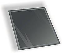 Зеркальная плитка НСК квадрат 350х350 мм фацет 15 мм графит, фото 1