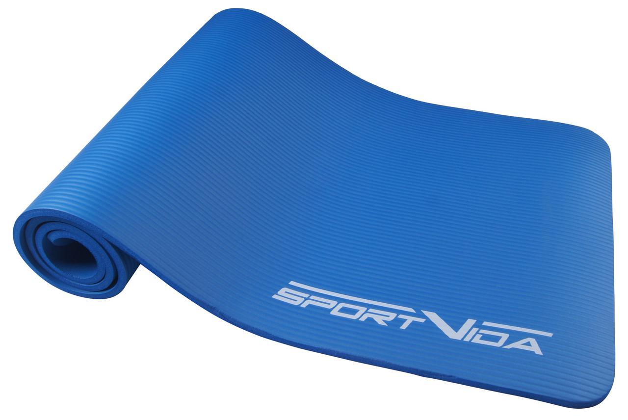 Коврик для тренировок SportVida NBR 1 см Blue