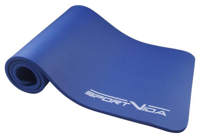Коврик для тренировок SportVida NBR 1.5 см Blue