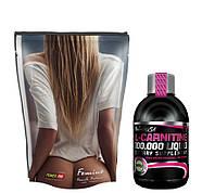 Протеин Power Pro Femine 1кг + L-carnitine 100.000 Liquid Biotech USA 500 мл