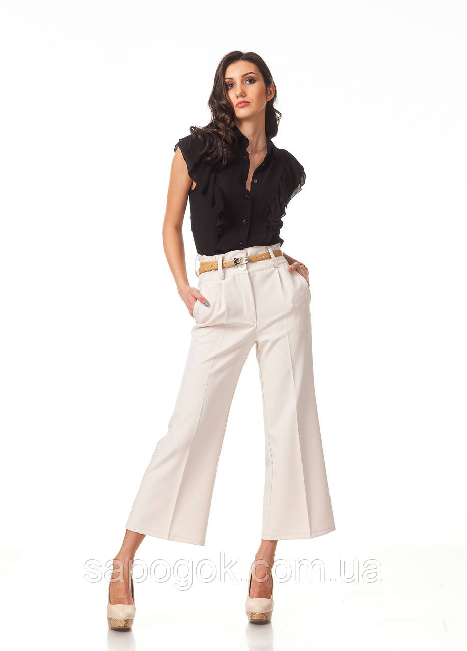 Модные женские брюки-кюлоты. КЮЛ004