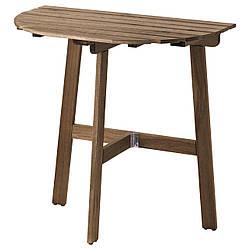 ✅ IKEA ASKHOLMEN (803.210.21) Пристенный стол, снаружи, сложенное серо-бежевое пятно
