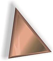 Зеркальная плитка НСК треугольник 350х350 мм фацет 15 мм бронза, фото 1