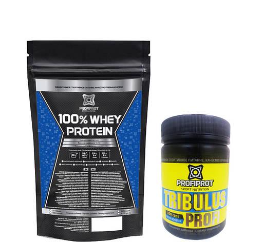 100% Whey protein PROFIPROT + Tribulus Profi PROFIPROT 100 caps*650 mg, фото 2