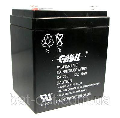 Аккумуляторная батарея Casil 12V - 5Ah CA 1250 свинцово-кислотный