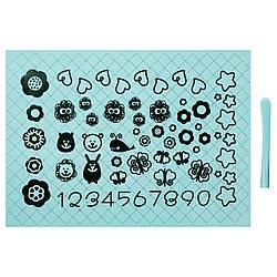✅ IKEA SOCKERKAKA (001.752.50) Лист для раскатывания теста и нож, голубой